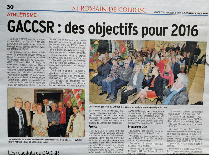 LE COURRIER CAUCHOIS 23 octobre 2015