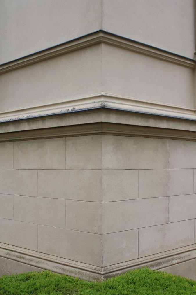 Fassadendetail Putzarbeit Gesims Palais am Stadthaus Wunderkind Archiv Shop Hofcafe Potsdam