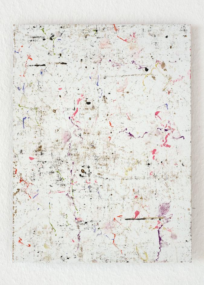 o. T., 2010, Ölstifte, Pastell auf Aluminium