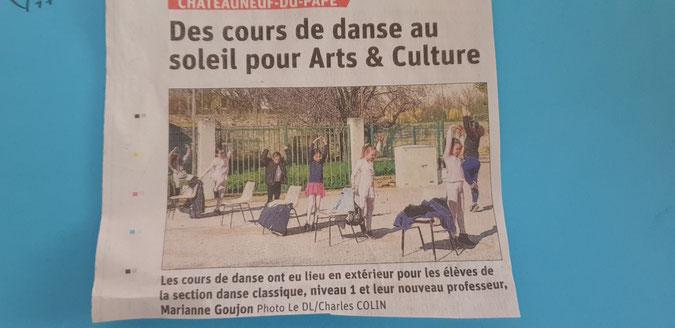 danse chateauneuf du pape vaucluse arts et culture