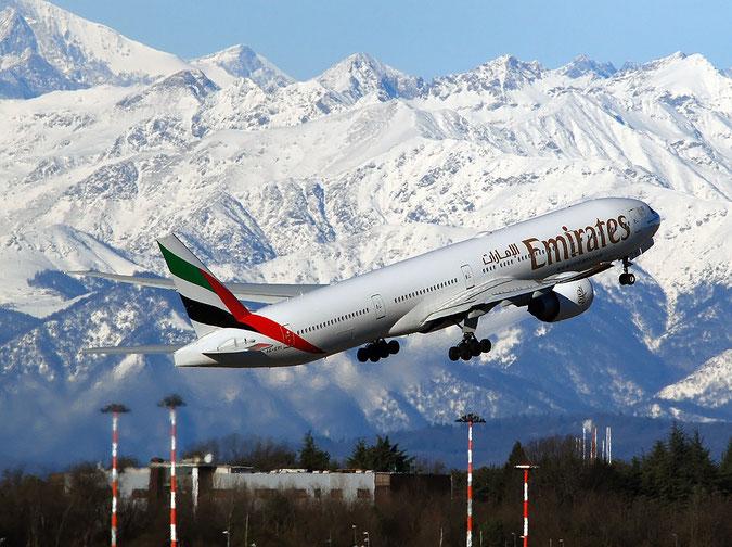 A6-EPI B777-31HER 42328/1364 Emirates @ Milano Malpensa Airport 29.12.2017 © Piti Spotter Club Verona