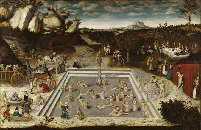 LA FONTAINE DE JOUVENCE , Lucas Cranach l'Ancien  (1546)