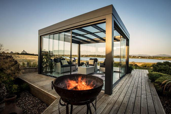 Terrassendach solarlux aluminium glaswände glas überdachung terrasse outdoorliving outdoor_living zuhause gastronomie feuer garten haus houseandliving schreinerei jertz mainz
