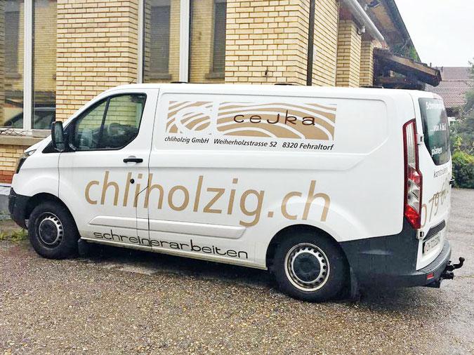 Lieferbus Schreinerei Chliholzig GmbH