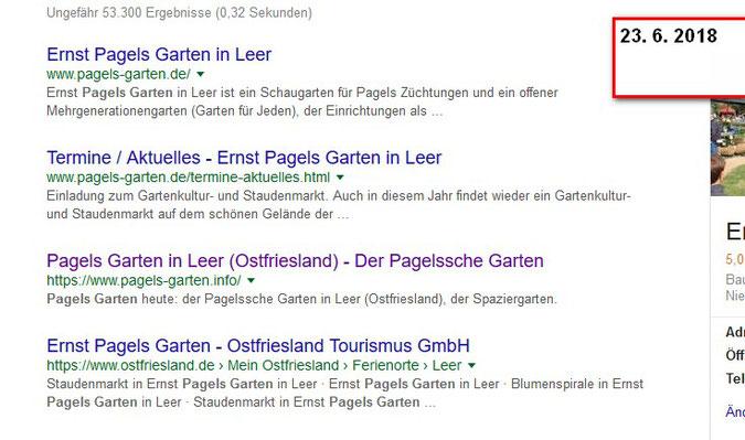 Blog - Der Pagelssche Garten
