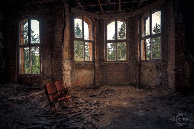 Abandoned tuberculosis sanatorium in the Harz mountains of Germany