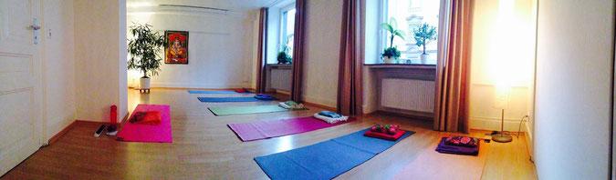 Yoga Praxis Frankfurt, Kursraum