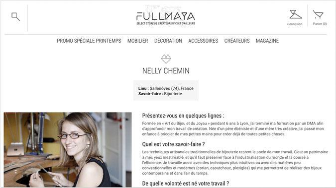 article Fullmaya - bijoux en argent recyclé - démarche éthique et responsable