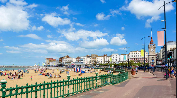 The ever-popular Margate seafront