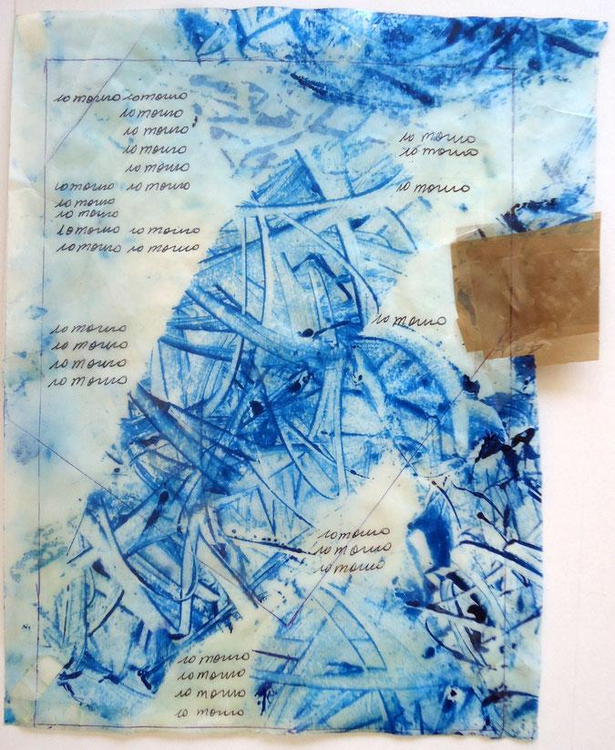 """Solares partecipa alla mostra colletiva """"Pollination"""", esponendo un'opera, di Mail-Art durante tutto il periodo della London  Biennale, fondata e diretta da David Medalla."""