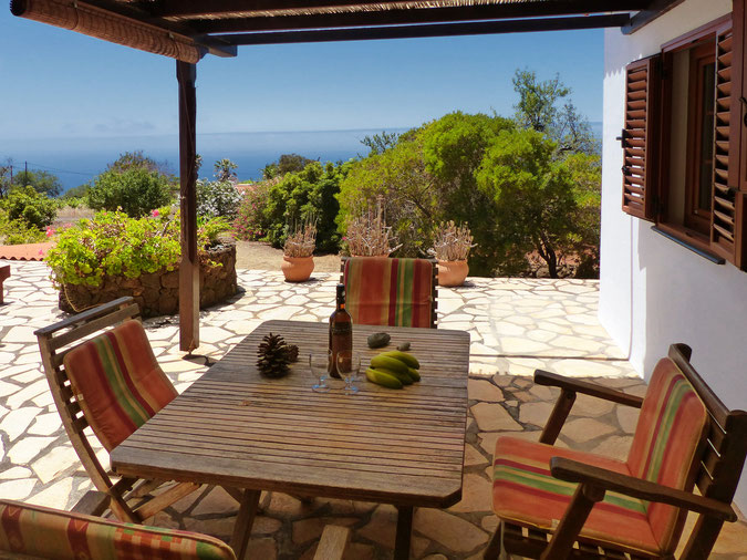 Seaview from our holiday home finca with garden to the coast of Puntagorda and Tijarafe