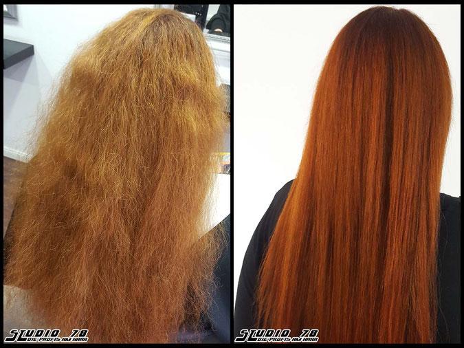 Coloration Haarfarbe kupfer copper vorher nachher