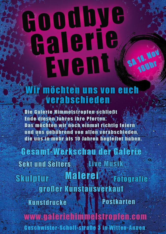 Kunst Finissage Veranstaltung in der Galerie Himmelstropfen