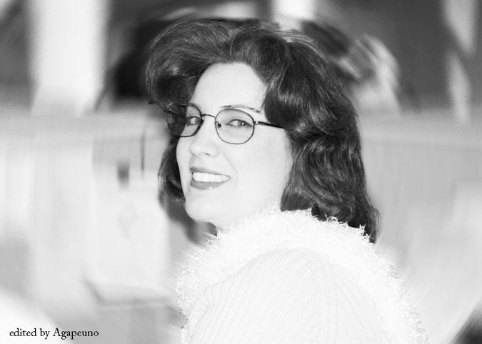 segretaria occhiali
