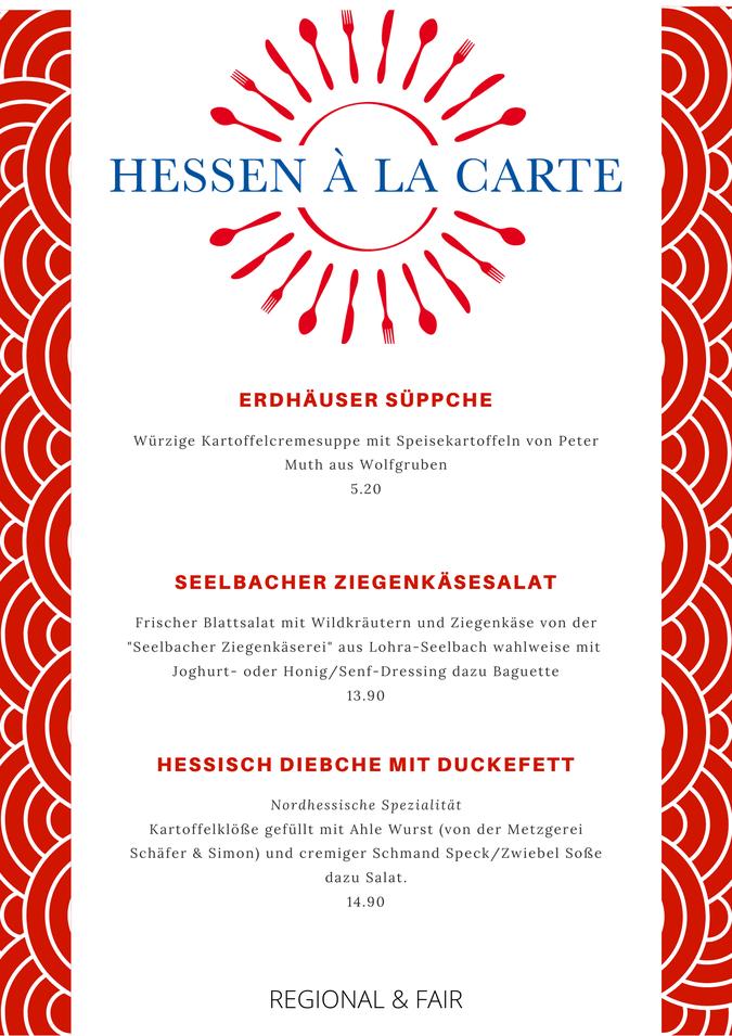Künstlerhaus Lenz, Hessen a la carte, Hessen, Marburg, Hessiche Küche, die 50 besten Dorfgasthäuser in Hessen, Hessischer Gründerpreis, Gladenbach, regionale Küche, Qualität, Speisekarte