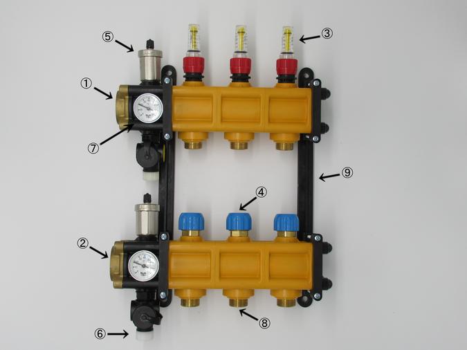 温水暖房用ヘッダー TPMヘッダー 大口径 大流量型