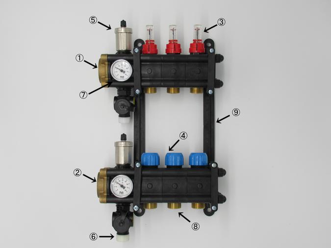温水暖房用ヘッダー TPSヘッダー 大口径