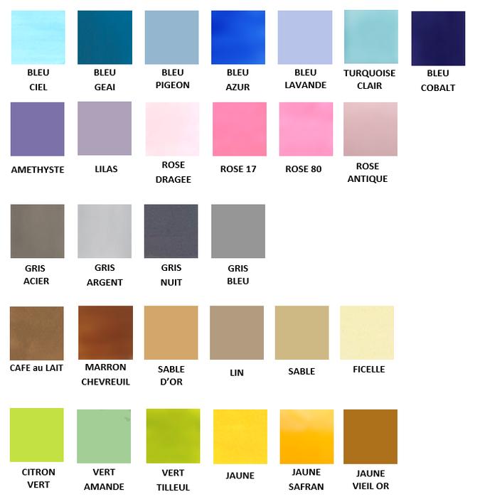 Palette de couleurs Nara