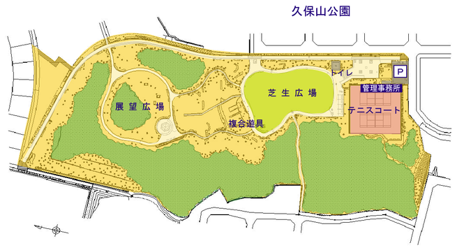 久保山公園案内図