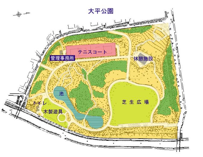 大平公園案内図
