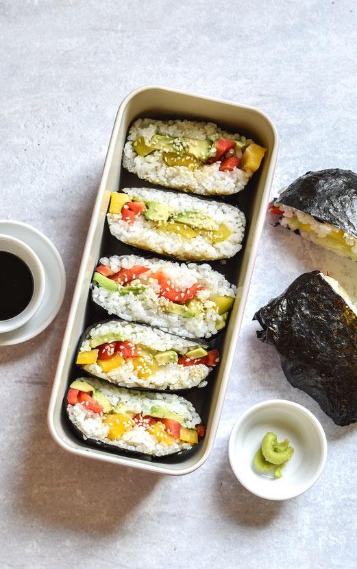 Sushi Sandwich, Reis aus dem Thermomix, vegetarisch, vegan machbar