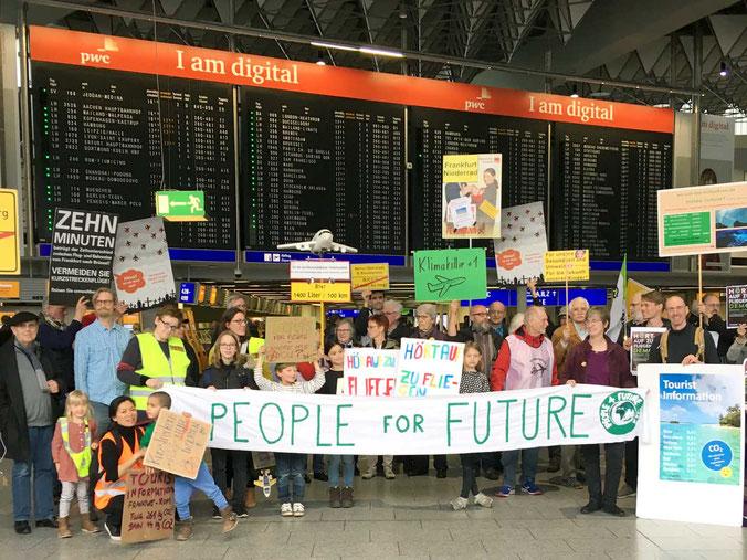 Unsere Flughafen-Demo zu Ferienbeginn