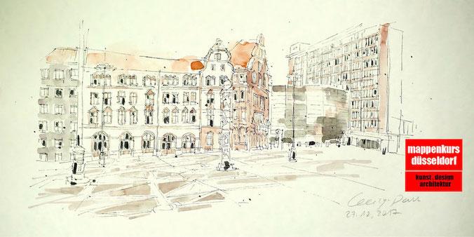 Mappenkurs Düsseldorf,  Studium Architektur Innenarchitektur