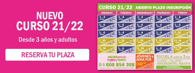 Nuevo Curso 19/20 - Reserva tu plaza