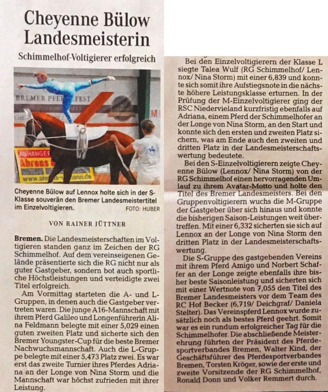 Weser Kurier 22. Mai 2017