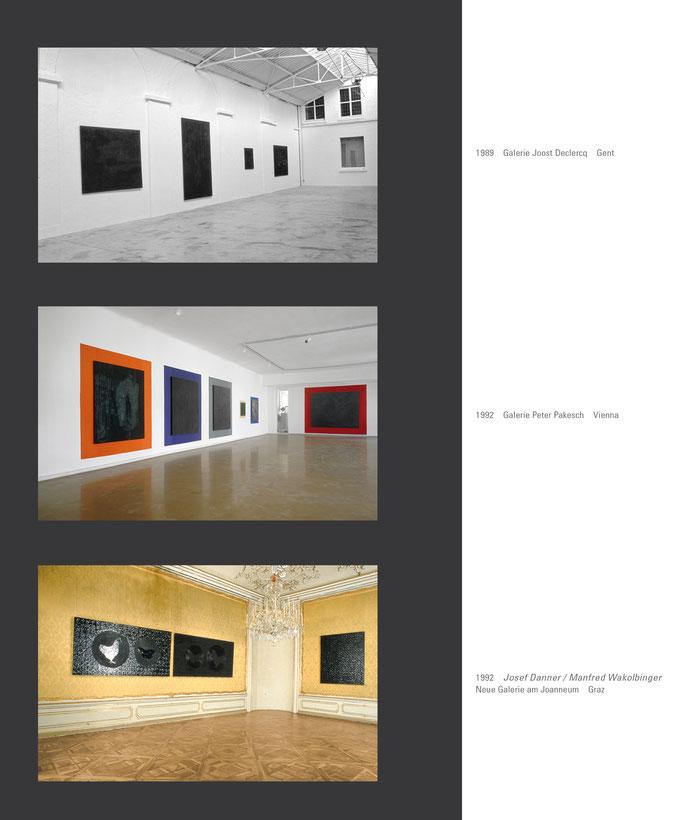 Josef Danner - 1992 - schwarze Bilder