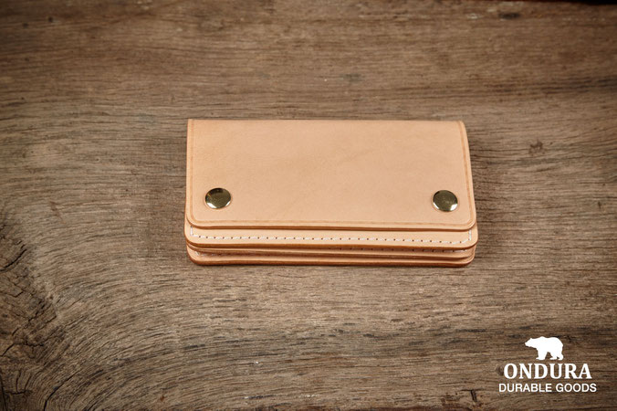 Heritage brand leather bikerwallet handcrafted in germany