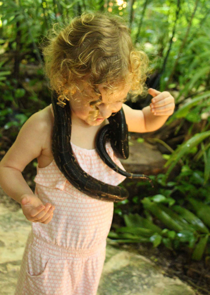 6 Awesome Eco-Adventure Parks in the Mayan Riviera - Croco Cun Zoo - Animal Encounters - Boa Constrictor