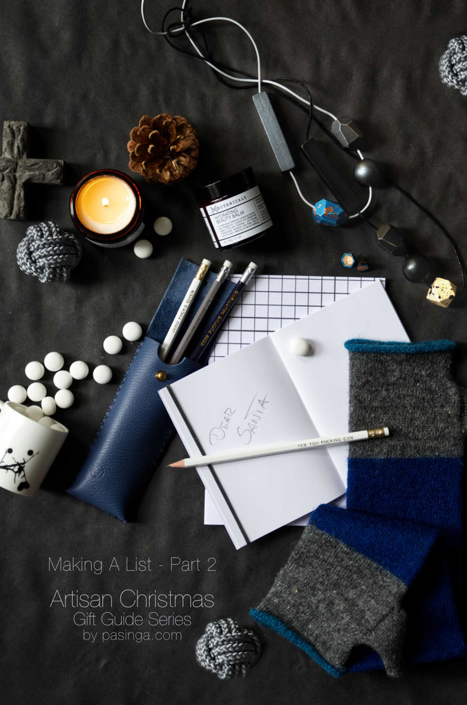 Making a list is part 2 of the PASiNGA artisan Christmas gift guide series