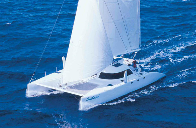 Catamaran Cut Loose sailing off the Queensland Coast