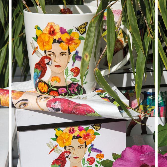 "Große Porzellantasse - Trend Mug ""La Dolorosa"" von PPD. Artwork by Ron Tanovitz"