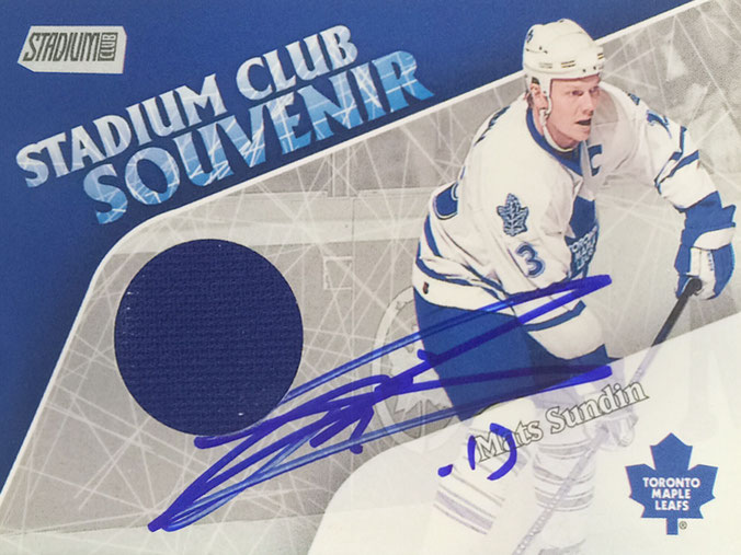 Mats Sundin, 3 Times Worldchampion and once Olympia Gold, 9 times NHL All Star, 15 Years NHL with 1437 Games played, Member of the Hall of Fame since 2012, Autograph by Mail
