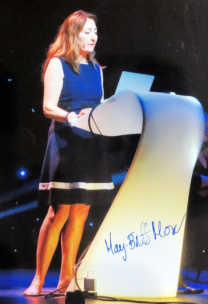 Autograph May-Britt Moser Autogramm