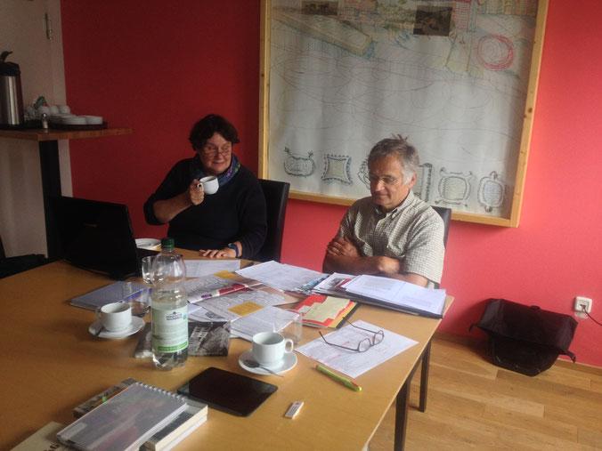 Redaktionssitzung in der Lindgens KANTINE