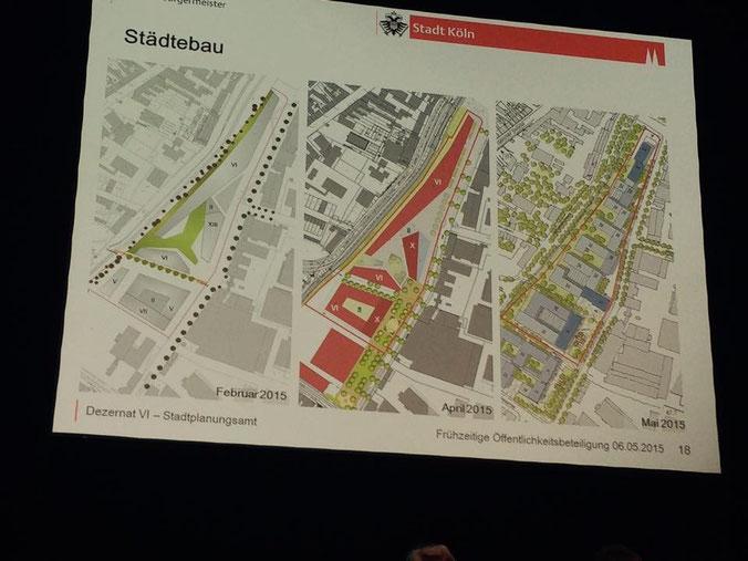 »Planungssprint« für das Planungsamt: Entwürfe aus Februar, April und Mai 2015