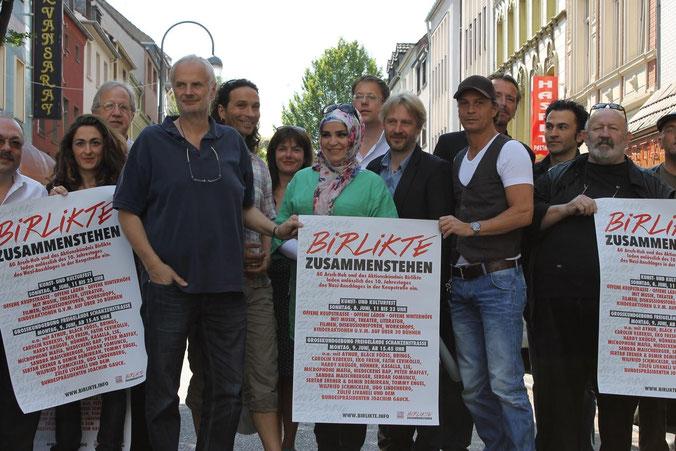 Vertreter des Aktionsbündnis »Birlikte« bei der Ankündigung des Kunst- und Kulturfestes 2015.