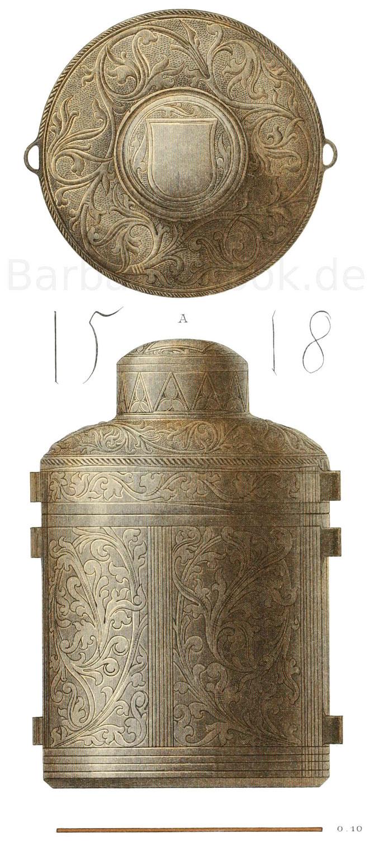 Utensilien aus der ersten Hälfte des 15. Jahrhunderts.