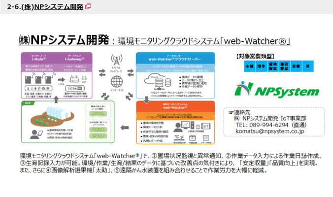 NPシステム開発:環境モニタリングクラウドシステム「web-Watcher」