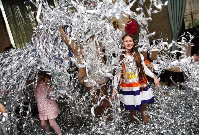 серебряное шоу для детей на детский праздник день рождения ребенка