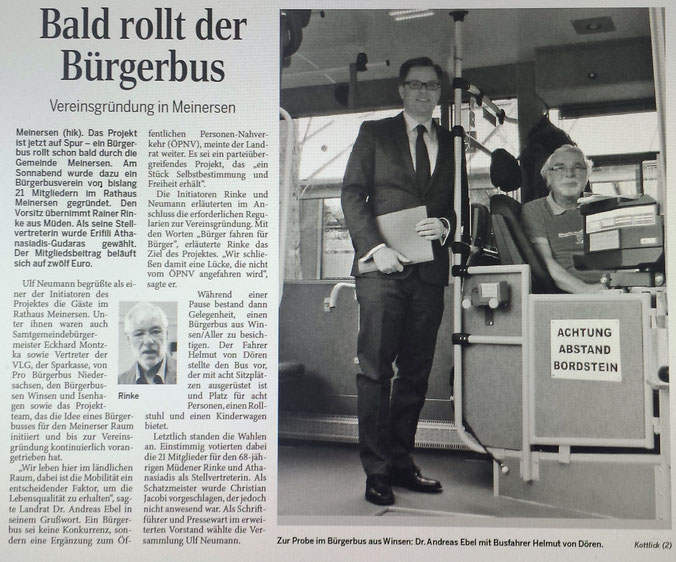 Aller-Zeitung vom 25.4.2016