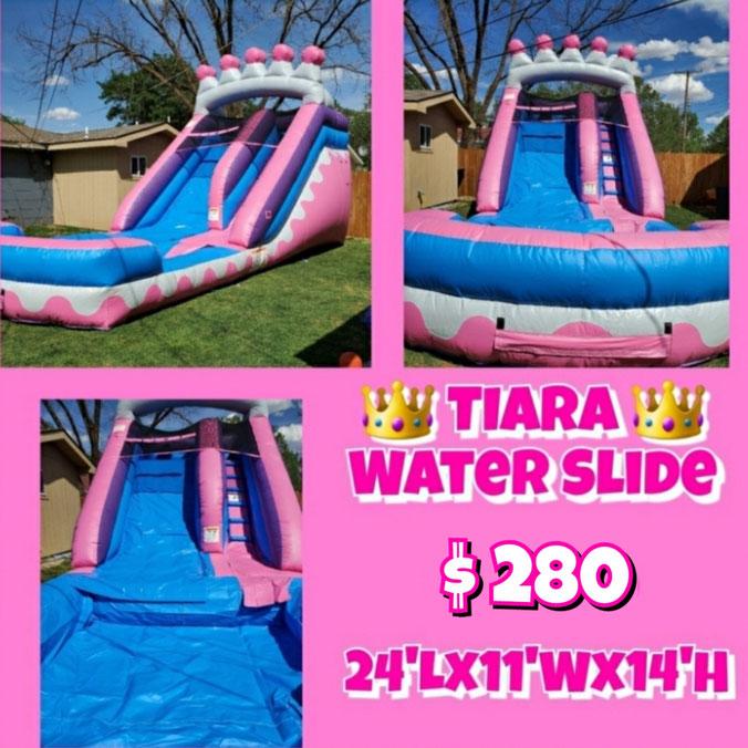 Tiara Water Slide Package, 3 tables & 18 chairs $260