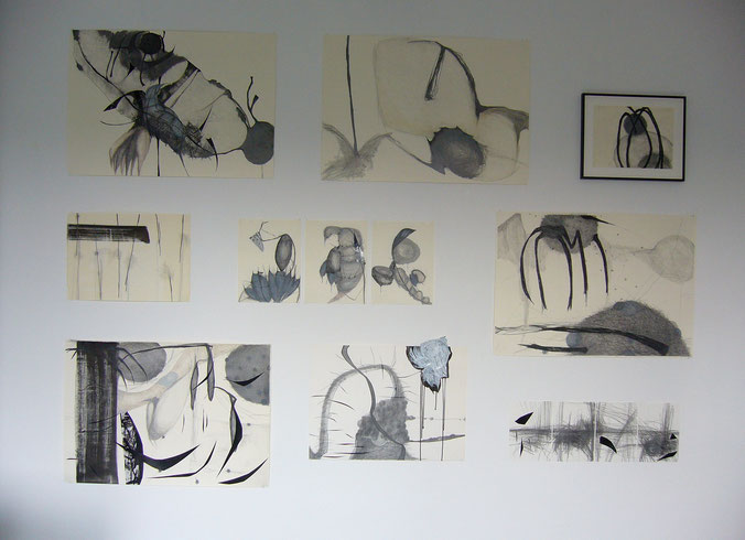 offenes Atelier, 2014, Köln, Zeichnungen von 2011-2014