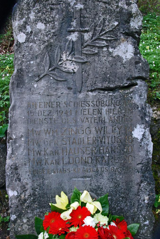 Gedenkstein im Unter-Bühl