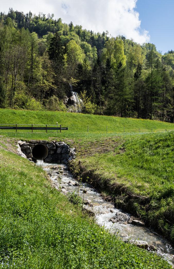 Schlattbach vor der Mündung in die Linth