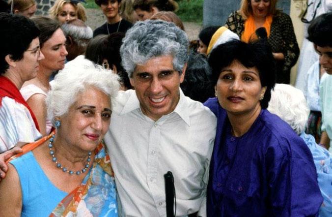 Katie with Dara and Amrit Irani. Dara is Adi S. son.