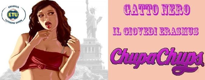 Giovedi' erasmus Gatto nero - Chupa chups party